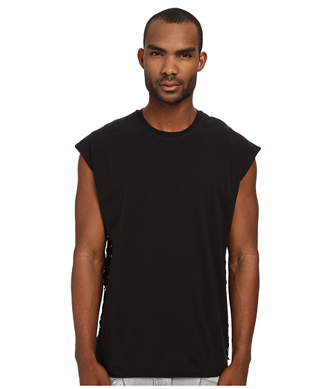 Imbracaminte Barbati Pierre Balmain Laced Side Muscle Tee Black