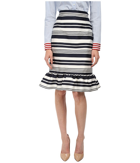 Imbracaminte Femei Red Valentino Striped Jacquard Skirt Navy