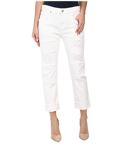 Imbracaminte Femei 7 For All Mankind Relaxed Skinny w Patches amp Destroy in White Fashion 2 White Fashion 2