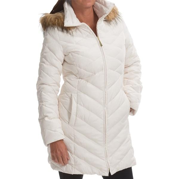 Imbracaminte Femei Ellen Tracy Ellen Tracy Down Walker Coat - Faux-Fur-Trim Hood WINTER WHITE (05)