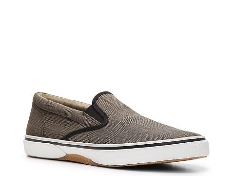 Incaltaminte Barbati Sperry Top-Sider Halyard Slip-On Sneaker BlackTanRedBlue