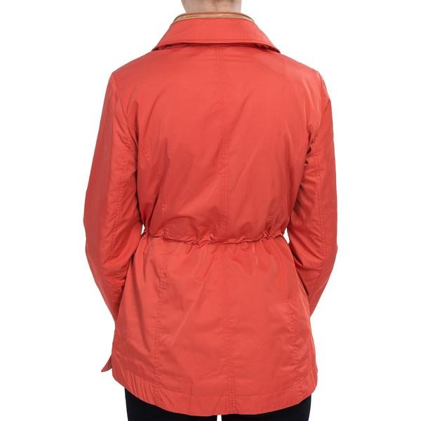 Imbracaminte Femei Ellen Tracy Ellen Tracy Techno Anorak Jacket - Storm Flap Stowaway Hood PERSIMMON (02)