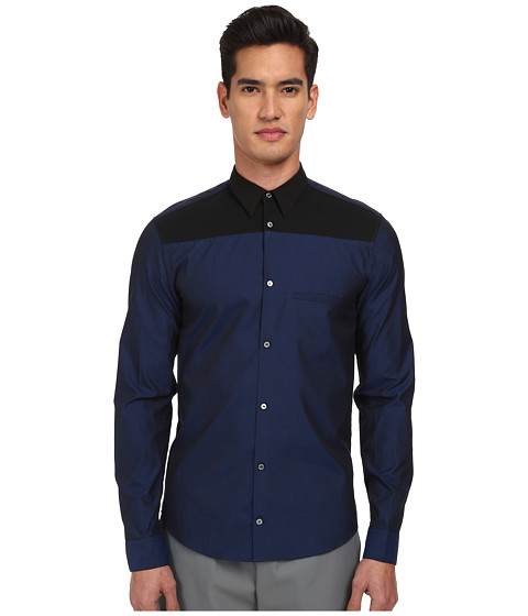 Imbracaminte Barbati Costume National Bicolor Button Up Shirt BlackBlue