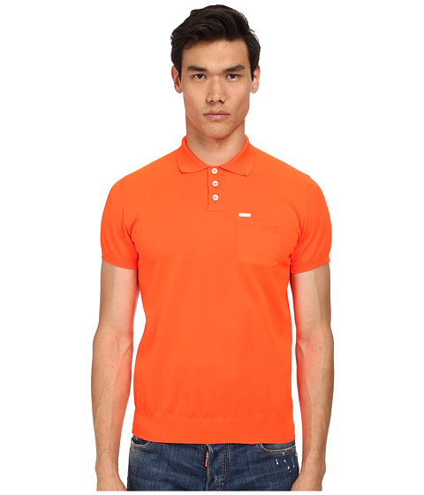 Imbracaminte Barbati DSQUARED2 Polo Sweater Orange
