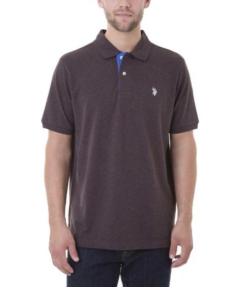 Imbracaminte Barbati US Polo Assn FLECK Polo Shirt BOOTSTRAP BRWN FLECK