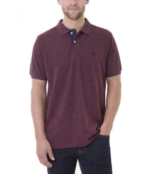 Imbracaminte Barbati US Polo Assn FLECK Polo Shirt BURGUNDY FLECK