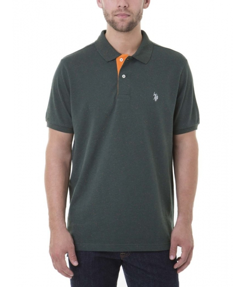 Imbracaminte Barbati US Polo Assn FLECK Polo Shirt PARK GREEN FLECK