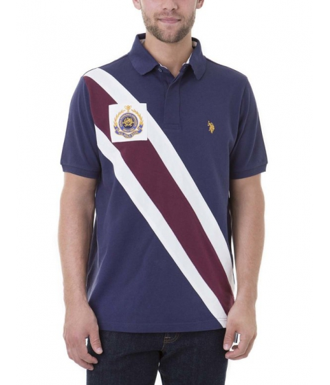 Imbracaminte Barbati US Polo Assn DIAGONAL WITH PATCH Classic Navy