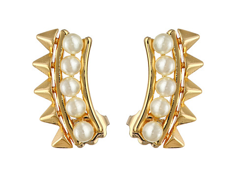 Bijuterii Femei Rebecca Minkoff Pearl Cuff Earrings Gold TonedPearl