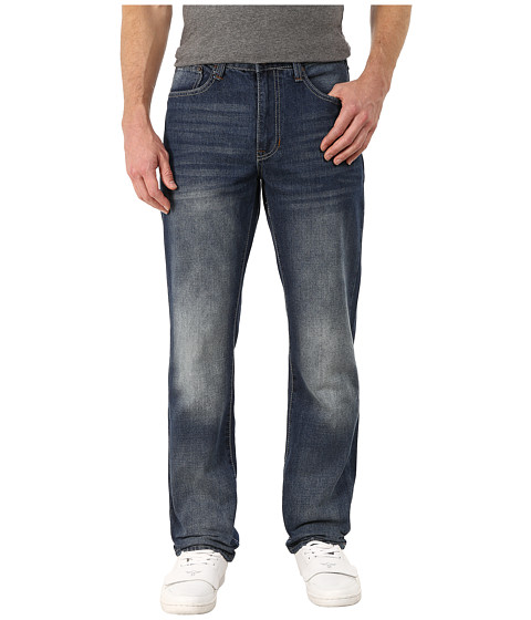 Imbracaminte Barbati IZOD Regular Fit Straight Leg Jeans in Atlantic Atlantic