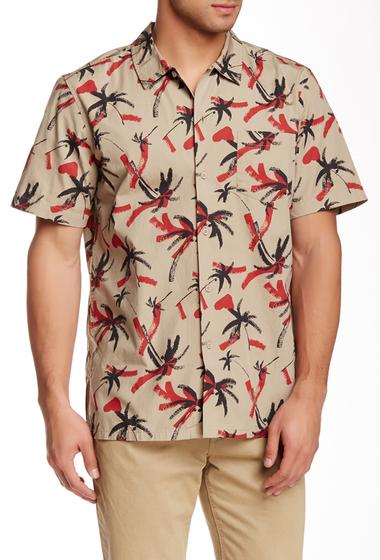 Imbracaminte Barbati Obey Gulf Print Woven Short Sleeve Regular Fit Shirt KHAKI MULT