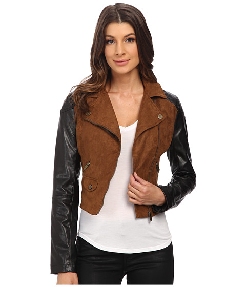 Imbracaminte Femei dollhouse Asymtric Zip Jacket w Perforated Side Panels Toffee
