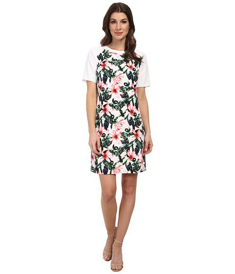 Imbracaminte Femei Vince Camuto Short Sleeve Jungle Lily Shift Dress Ultra White