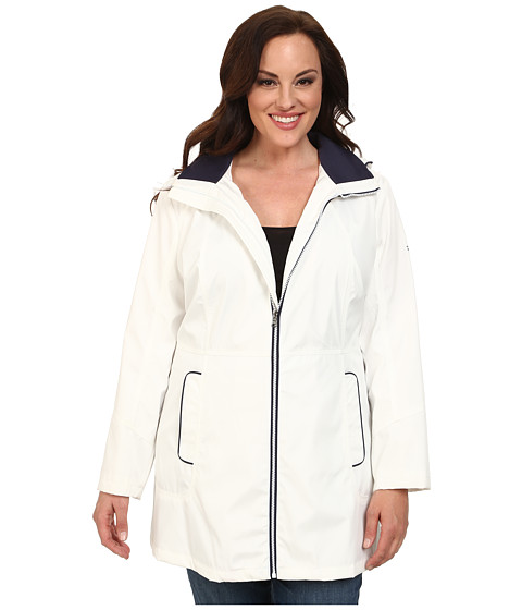 Imbracaminte Femei Jessica Simpson Plus Size Centerfront Zip Polybonded with Contrast Piping White