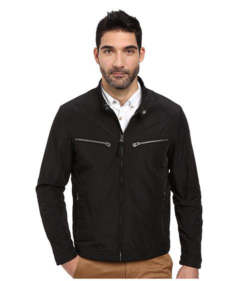 Imbracaminte Barbati Cole Haan Lightweight Packable Moto Jacket with Camo Lining Black