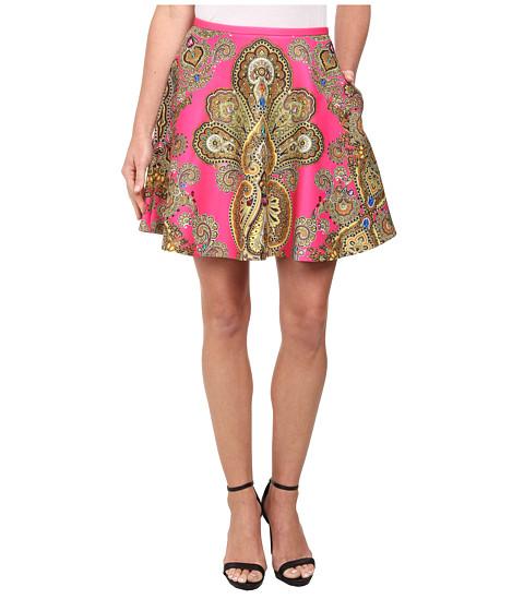 Imbracaminte Femei Ted Baker Gaplly Jewel Paisley Print Full Skirt Bright Pink