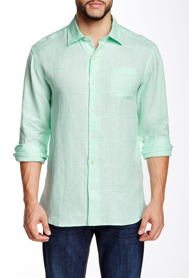 Imbracaminte Barbati Tommy Bahama Tropez Long Sleeve Regular Shirt DIVE AQUA