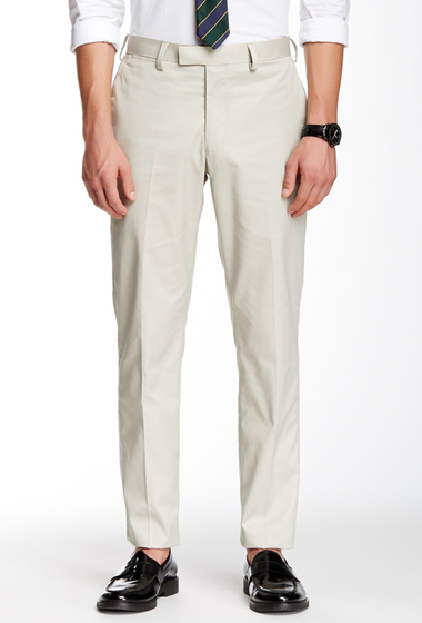 Imbracaminte Barbati Louis Raphael Slim Fit Flat Front Landon Pants ASH