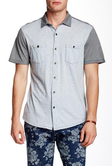 Imbracaminte Barbati Howe Dark Start Short Sleeve Regular Fit Shirt BLUE GRANI