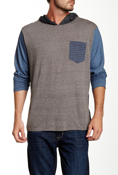 Imbracaminte Barbati Burnside Hooded Colorblock Tee H Grey