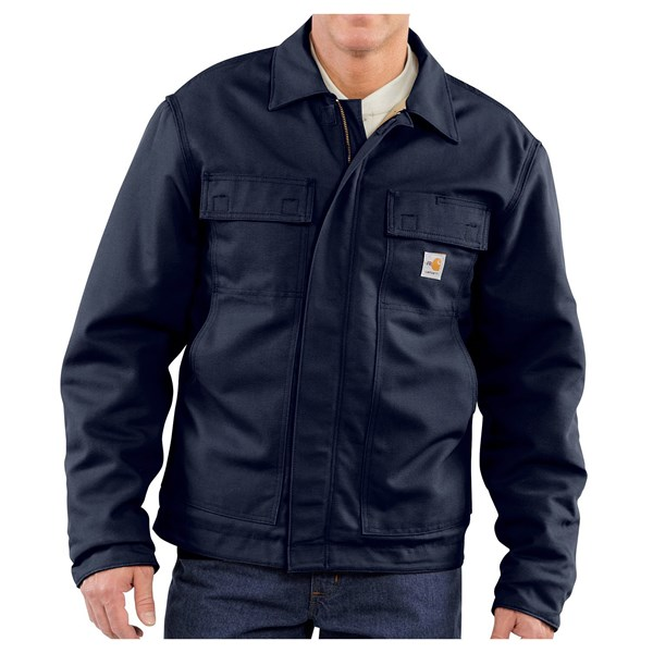 Imbracaminte Barbati Carhartt FR Flame-Resistant Lanyard Access Jacket - Quilt Lined (For Big and Tall Men) DARK NAVY (02)