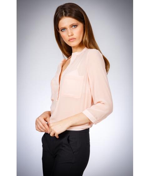 Imbracaminte Femei Be You Bluza dama roz pal cu buzunare Multicolor