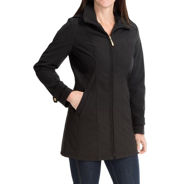 Imbracaminte Femei Ellen Tracy Ellen Tracy A-Line Soft Shell Jacket BLACK (02)