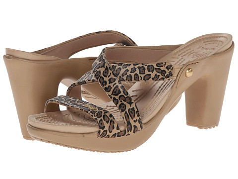 Incaltaminte Femei Crocs Cyprus Leopard GoldBlack