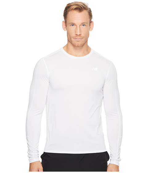 Imbracaminte Barbati New Balance Accelerate Long Sleeve White 1