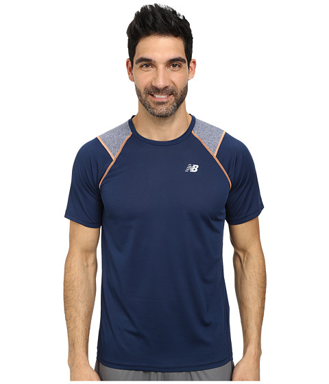 Imbracaminte Barbati New Balance Go Run Short Sleeve Top Dark Sapphire