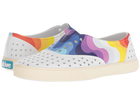 Incaltaminte Femei Native Shoes Miller Shell WhiteBone WhiteRainbow Wave