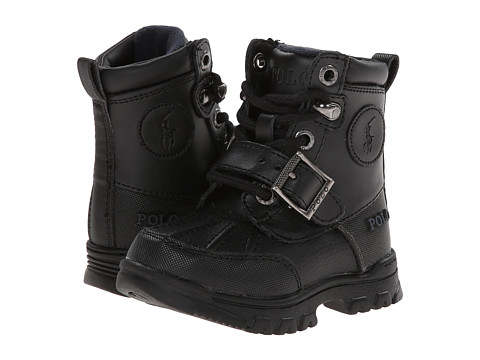 Incaltaminte Baieti Polo Ralph Lauren Colbey Boot FT14 (Toddler) Black TumbledBurnished Leather