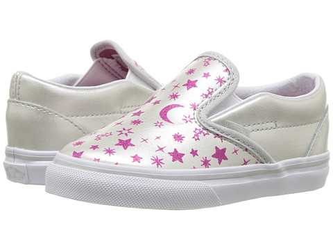 Incaltaminte Fete Vans Classic Slip-On (Toddler) (Star Glitter) Micro ChipGlitter