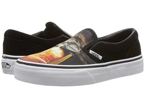 Incaltaminte Baieti Vans Classic Slip-On (Little KidBig Kid) (Alien Attack) BlackTrue White