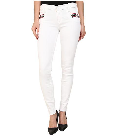 Imbracaminte Femei Hudson Custom Chimera Zipper Super Skinny Jeans in White 2 White 2