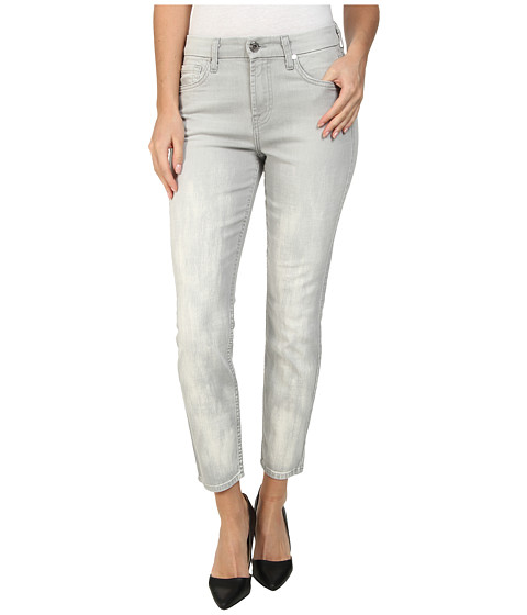 Imbracaminte Femei 7 For All Mankind Mid Rise Crop Skinny w Bleach in Distressed Spring Grey Distressed Spring Grey