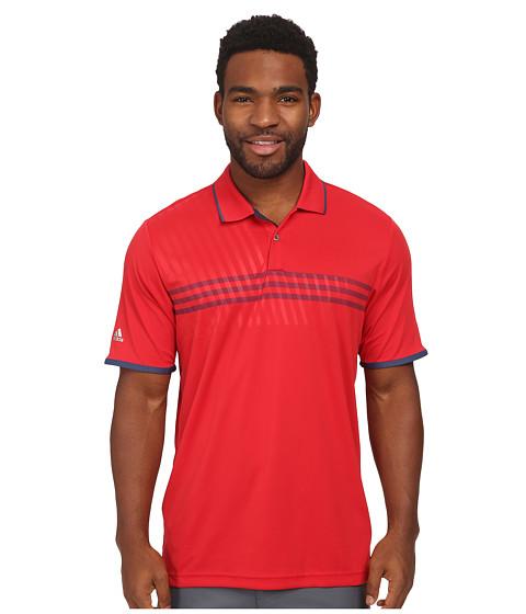 Imbracaminte Barbati adidas Golf CLIMACHILLreg 3 Stripe Deboss Polo Bold RedNight MarineNight Marine