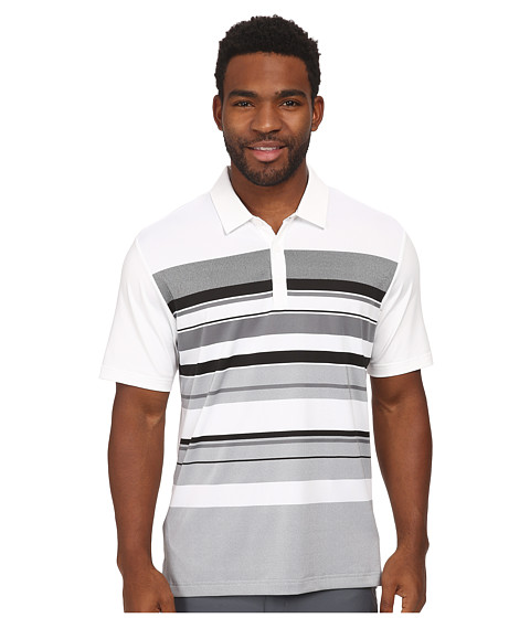 Imbracaminte Barbati adidas Golf CLIMACOOLreg Sport Performance Stripe Polo WhiteBlackVista Grey
