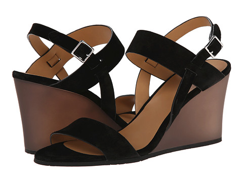 Incaltaminte Femei Marc by Marc Jacobs Suede Wedge Sandals Black