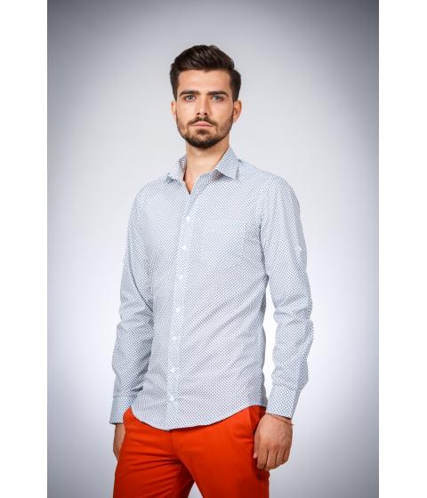 Imbracaminte Barbati Be You Camasa alba cu print bleumarin Multicolor