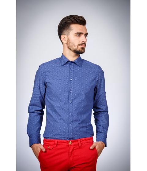 Imbracaminte Barbati Be You Camasa albastra cu print bej Multicolor