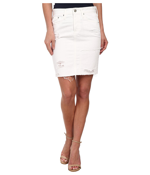 Imbracaminte Femei AG Adriano Goldschmied The Erin Skirt Vintage White Recontructed