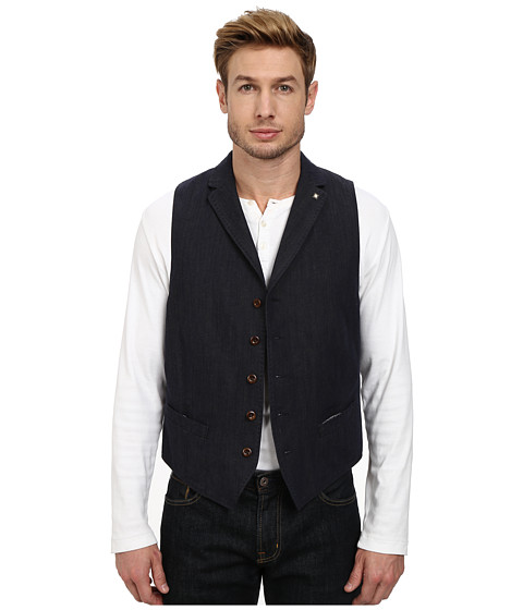 Imbracaminte Barbati BOSS Orange Bodges R-W Slim Shaped Vest w Lapel Collar Dark Blue
