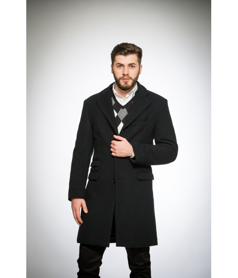 Imbracaminte Barbati Be You Palton din lana negru Multicolor