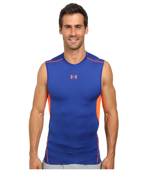 Imbracaminte Barbati Under Armour Armourreg Heatgearreg SL Tee CobaltBolt Orange