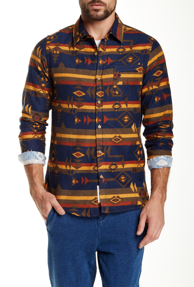 Imbracaminte Barbati NATIVE YOUTH Printed Long Sleeve Trim Fit Shirt MULTI