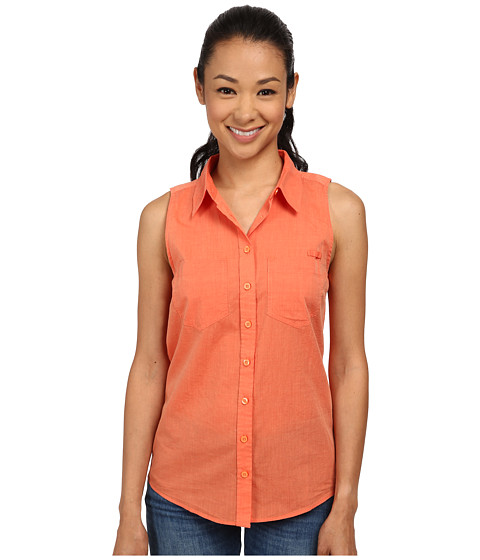 Imbracaminte Femei Patagonia Brookgreen Sleeveless Top Chambray Peach Sherbet