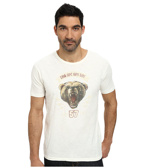 Imbracaminte Barbati Lucky Brand Military Bear Graphic Tee Marshmallow
