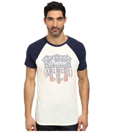 Imbracaminte Barbati Lucky Brand Indian Shield Graphic Tee Navy Multi