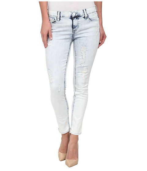 Imbracaminte Femei DKNY Ave B Ultra Skinny Rip and Repair Crop in Sky Wash Sky Wash